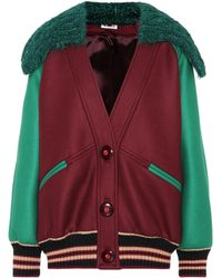 Miu Miu - Virgin Wool Bomber Jacket - Lyst