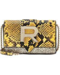 Rochas - Embossed Leather Shoulder Bag - Lyst
