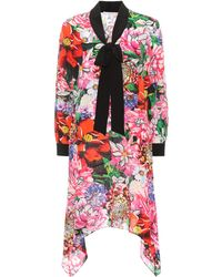 Mary Katrantzou - Hearts Floral-printed Silk Dress - Lyst