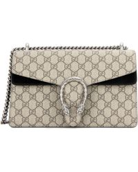 f68f7d110f12 Gucci Dionysus GG Supreme Shoulder Bag in Natural - Save 10% - Lyst