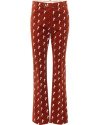 Chloé - Pantalones de terciopelo bordados - Lyst