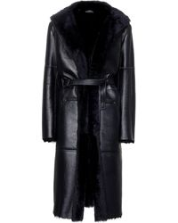 JOSEPH - Hank Leather And Shearling Coat - Lyst