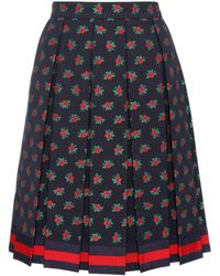 Gucci - Pleated A-line Skirt - Lyst