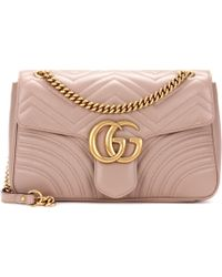 999dc228d8f1aa Gucci Gg Marmont Matelassé Shoulder Bag in Yellow - Lyst