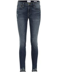 FRAME - Mid-Rise Jeans Jeanne Front Chew - Lyst