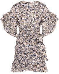 Étoile Isabel Marant   Delicia Linen Wrap Dress   Lyst