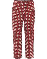 Marni - Pantalones de seda estampados - Lyst