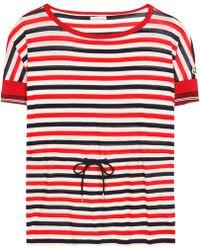 Moncler - Striped Cotton Top - Lyst