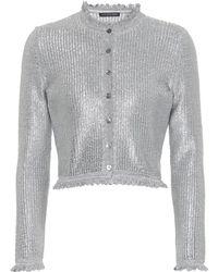 Alexander McQueen - Metallic Knit Cardigan - Lyst
