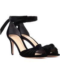 Alexandre Birman - New Clarita Midi Velvet Court Shoes - Lyst