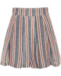 Three Graces London - Linen And Cotton Shorts - Lyst