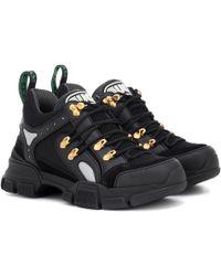Gucci Flashtrek Leather Sneakers - Black