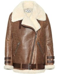 fb5ff094b2846 Lyst - Shearling Leather Jackets - Women s Shearling Leather Jackets