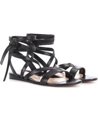 Gianvito Rossi - Exclusive To Mytheresa. Com – Janis Flat Leather Sandals - Lyst