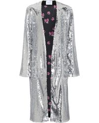 Racil - Sequinned Coat - Lyst