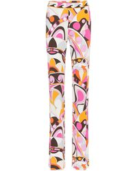 Emilio Pucci - Printed Trousers - Lyst