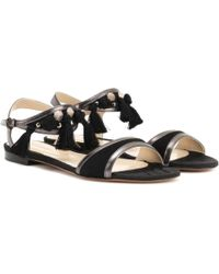 Etro - Leather And Suede Sandals - Lyst