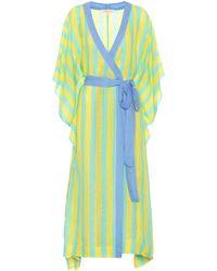 Diane von Furstenberg - Striped Linen-blend Robe - Lyst