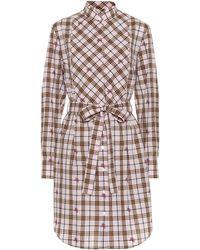 a0f5c0a74e3 Burberry - Robe chemise en coton à carreaux - Lyst