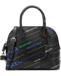 Balenciaga - Ville S Printed Leather Tote - Lyst