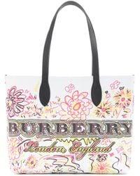 Burberry - The Doodle Medium Reversible Shopper - Lyst
