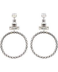 Isabel Marant - Crystal-embellished Hoop Earrings - Lyst
