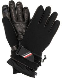 Moncler Grenoble Leather-trimmed Ski Gloves