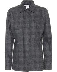 Max Mara - Ranghi Wool And Cashmere Checked Shirt - Lyst