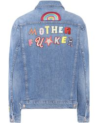 Mother - The Drifter Embroidered Denim Jacket - Lyst