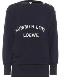 Loewe - Summer Love Wool-blend Sweater - Lyst