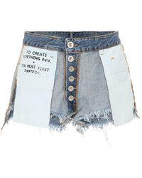 Unravel - Indigo Reverse Denim Shorts - Lyst