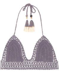 She Made Me - Essential Cheeky Crochet Bikini Top - Lyst