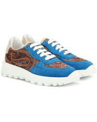 Etro - Sneakers mit Veloursleder - Lyst