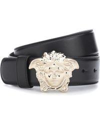 Versace - Medusa Leather Belt - Lyst