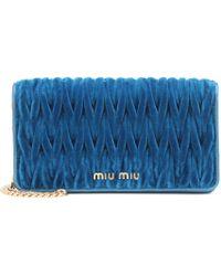 Miu Miu - Matelassé Velvet Shoulder Bag - Lyst