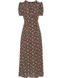 ALEXACHUNG - Hooded Floral-printed Dress - Lyst