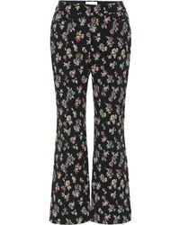 Erdem - Floral Jacquard Pants - Lyst