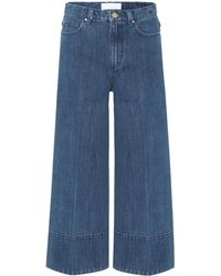 Co. - Cropped Wide-leg Jeans - Lyst