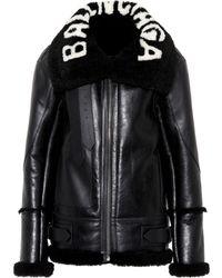 Balenciaga - The Bombardier Shearling Jacket - Lyst