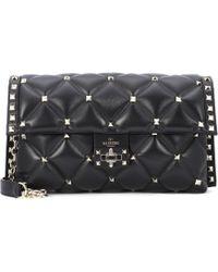 Valentino - Candystud Leather Shoulder Bag - Lyst