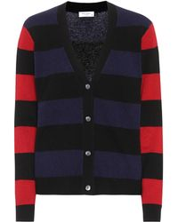 Equipment | Shelly Striped Cashmere Cardigan | Lyst