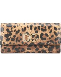 Dolce & Gabbana - Leopard-printed Leather Wallet - Lyst