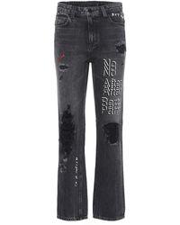 Alexander Wang - Jeans a vita alta - Lyst
