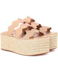 Chloé - Sandalias de piel con plataforma Lauren - Lyst