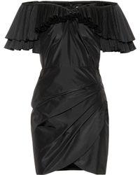 Alessandra Rich - Ruffled Silk-blend Minidress - Lyst