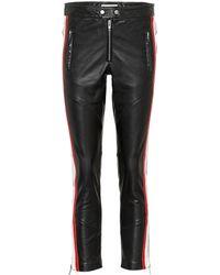 Étoile Isabel Marant - Aya Cropped Leather Pants - Lyst