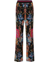 Etro - Paisley Wool Crêpe Wide-leg Pants - Lyst
