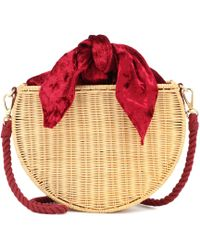 Kayu - Exclusive To Mytheresa – Dylan Velvet And Straw Tote - Lyst