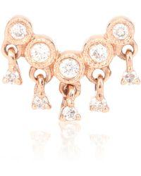 Stone Paris - Talitha 18kt Pink Gold Diamond Earring - Lyst