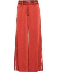 Peter Pilotto - High-Rise-Hose aus Satin - Lyst